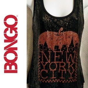 """Bongo """"New York City"""" Sequin Tank Size M"""